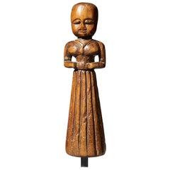 Delicate Wooden Female Figure, India, Tribal Art