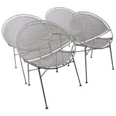 Set of Four Hoop Chairs by Salterini