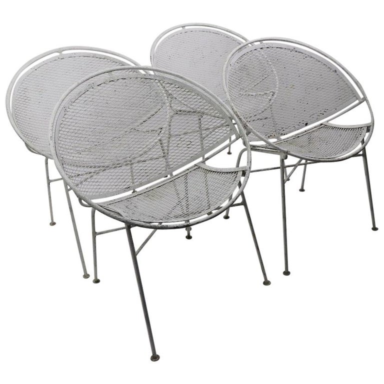 Set of Four Hoop Chairs by Salterini For Sale
