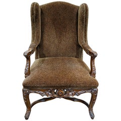 Louis XVI Bergere Chair with Leopard Upholstery