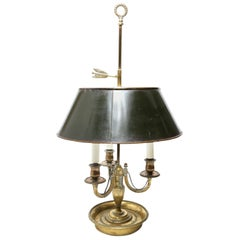 Neoklassischer Stil Bouillotte Lampe aus Vergoldeter Bronze