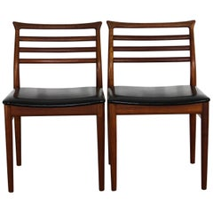 Midcentury Danish Erling Torvits Teak Dining Chairs, 2 Available