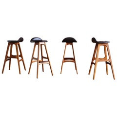 Set of Four Barstools by Erik Buch
