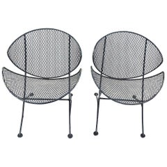 Pair of Salterini Clamshell Lounge Chairs