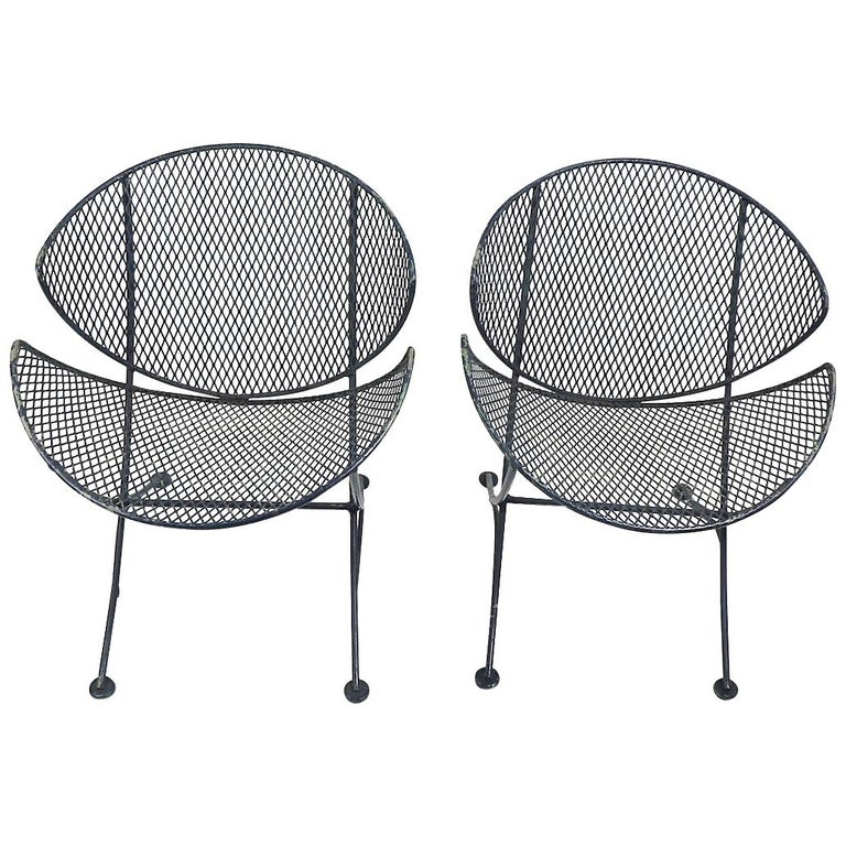 Pair of Salterini Clamshell Lounge Chairs For Sale