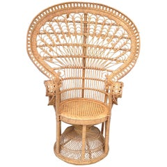 """Emmanuelle"" Style ""Peacock"" Chair"