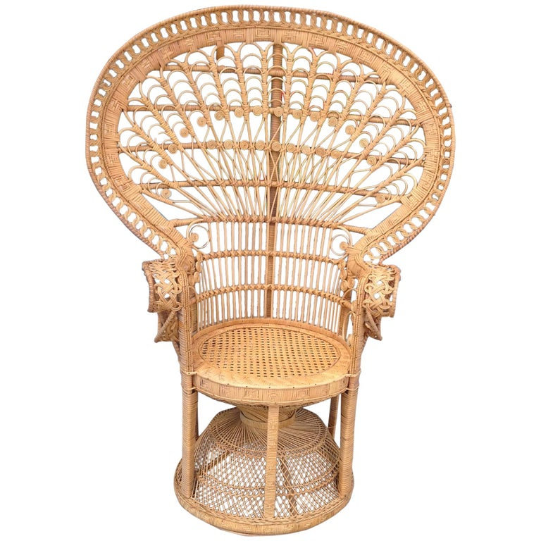 """""""Emmanuelle"""" Style """"Peacock"""" Chair For Sale"""