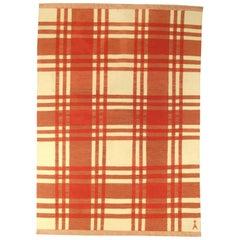 Red Vintage Swedish Rug