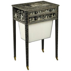 Regency Work Table with Chinoiserie Penwork Decoration