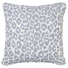 Schumacher Iconic Leopard Sky Two-Sided Linen Pillow