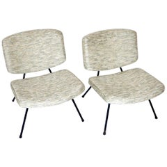 Pierre Paulin CM190 Pair of Slipper Lounge Chairs for Thonet