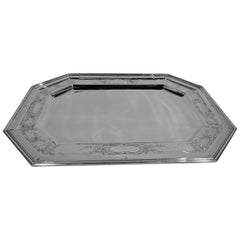 Antique American Edwardian Sterling Silver Serving Tray