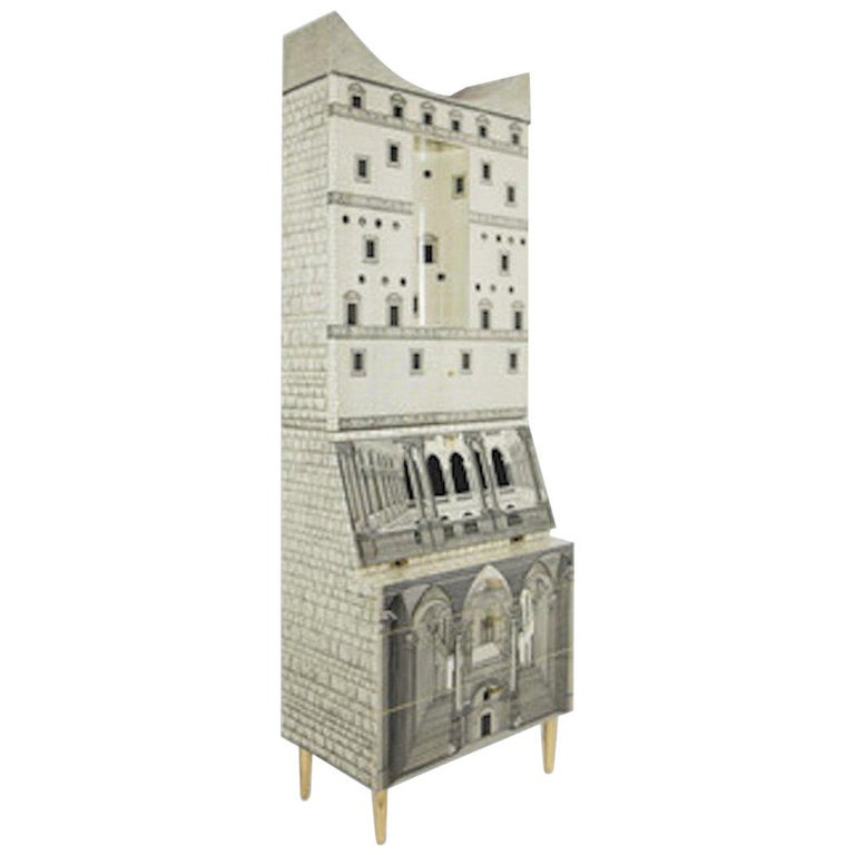 Fornasetti-Trumeau Architecture Black or Ivory, 2017 For Sale
