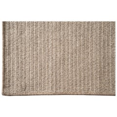 Woven Wool Rug in Natural, Custom Made in the USA