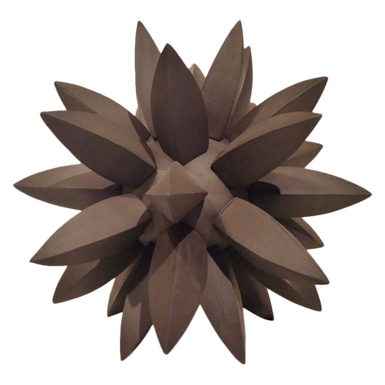 """Black Star"" a Contemporary Ceramic Sculpture by American Artist Titia Estes For Sale"