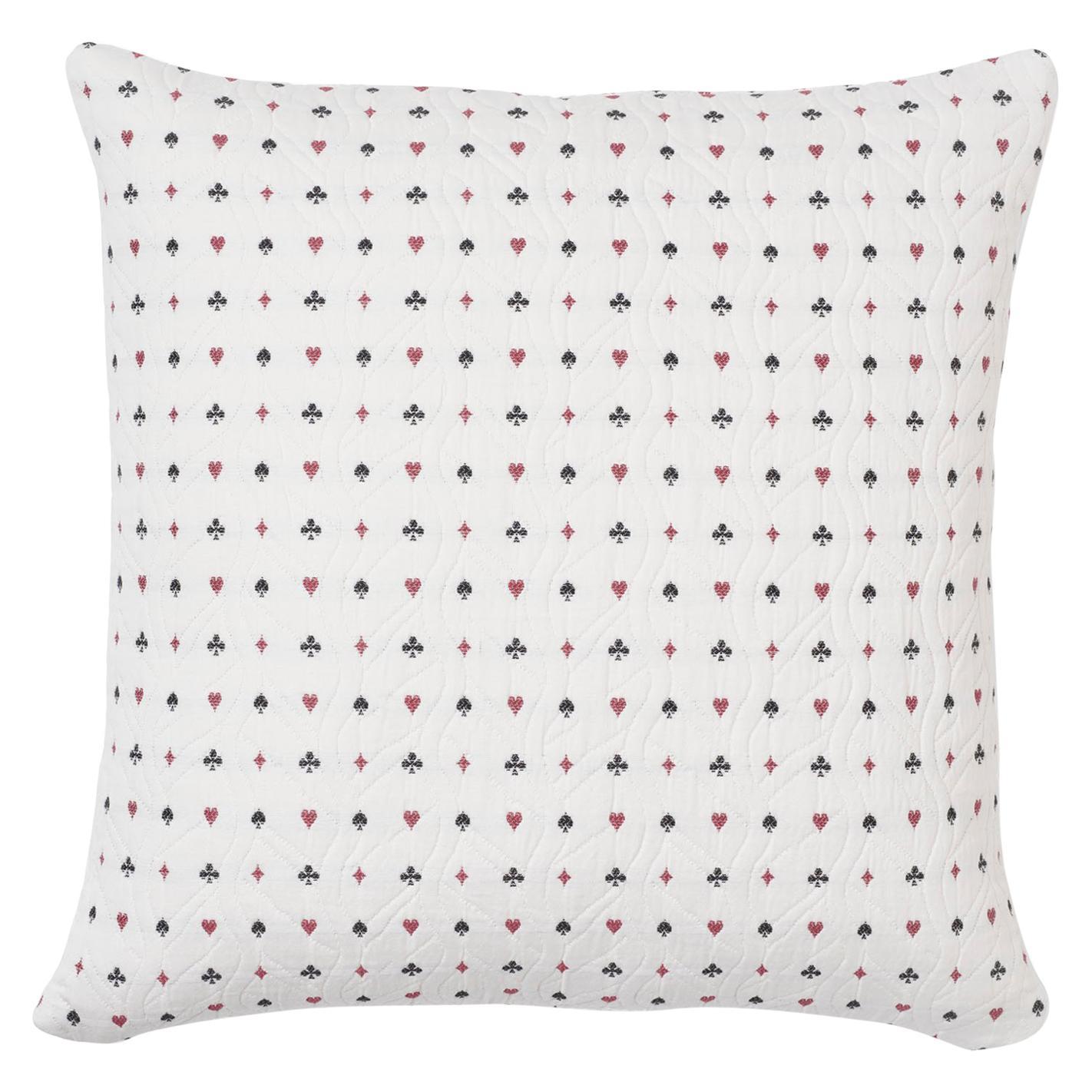 Schumacher Le Joueur Rouge Noir Two-Sided Cotton Pillow