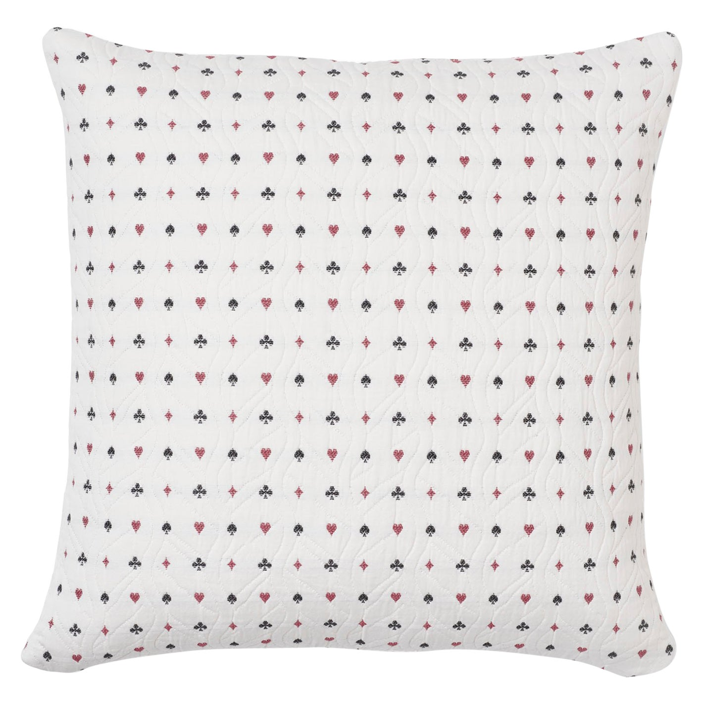 Schumacher Le Joueur Rouge Noir Two-Sided Cotton Pillow