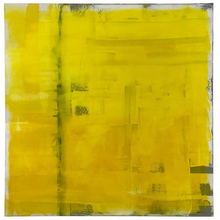 """Abstract Painting Titled """"Yellow"""" by Rebecca Ruoff, 2018 For Sale"""