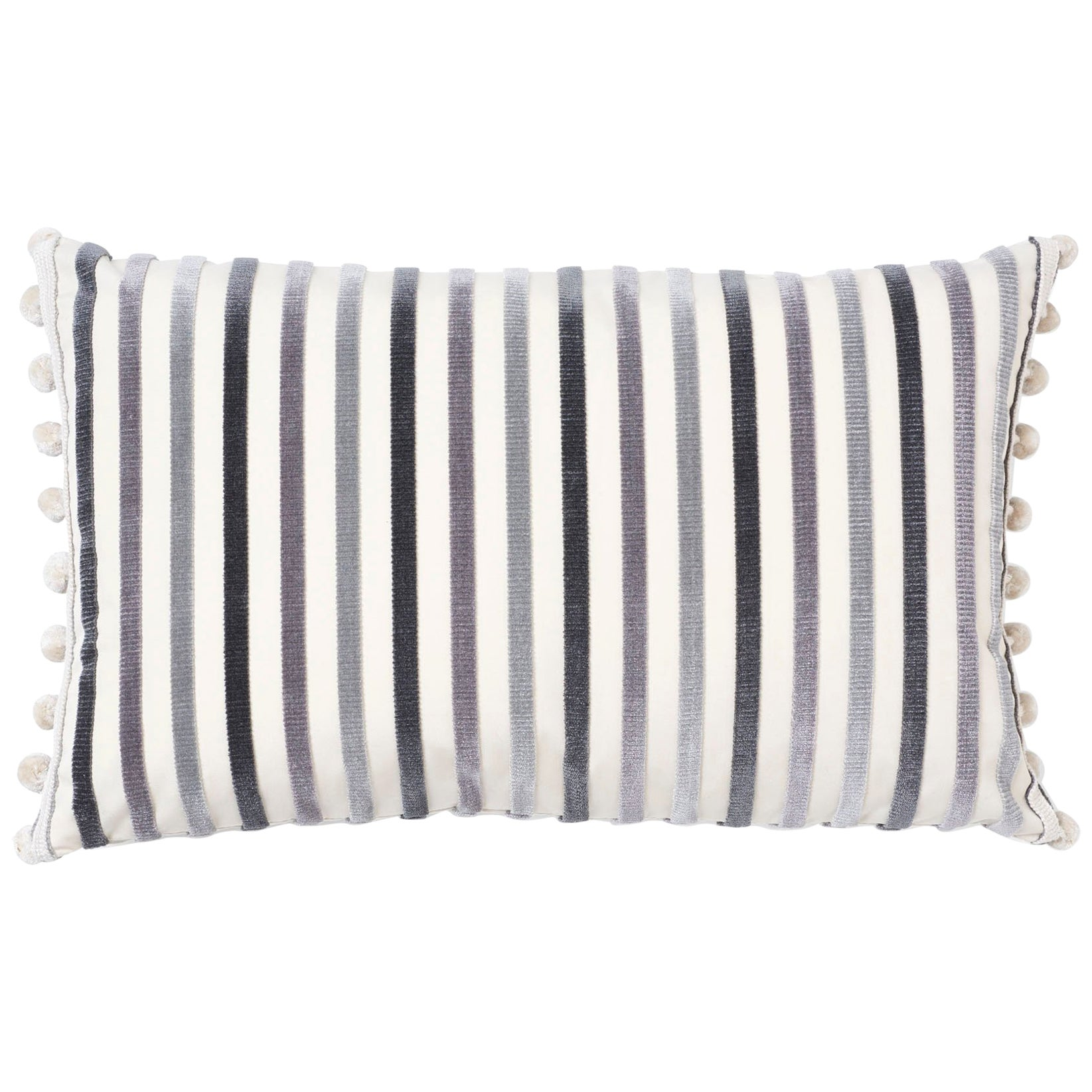 Schumacher Le Matelot Charcoal Two-Sided Pillow