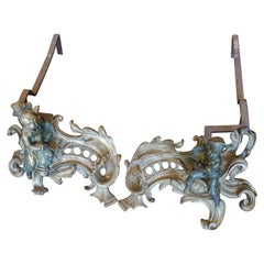Pair of Louis XV Style Chenets, circa 1850
