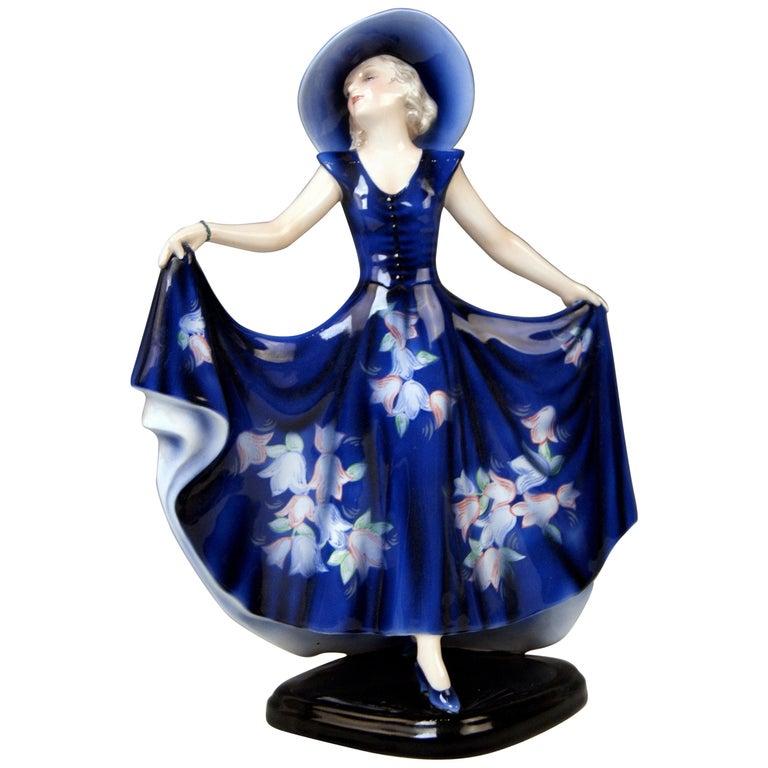 Goldscheider Vienna Lady Dancer Liane Wide-Brimmed Hat Model 7581 Lorenzl For Sale