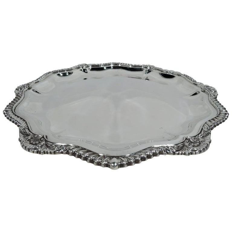 International Lord Robert Sterling Silver Georgian Tray For Sale