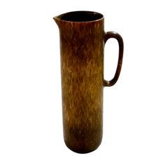 Vintage Swedish Brown Pitcher Vase Carl-Harry Stålhane for Rörstrand