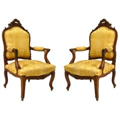 Set of 5 French Louis XV Style High Back Salon Set