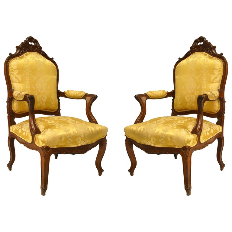 Set of 5 French Louis XV Style High Back Salon Set For Sale