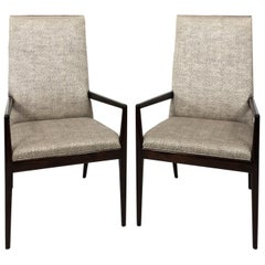 Pair of High Back Armchairs in the Manner of T.H. Robsjohn-Gibbins