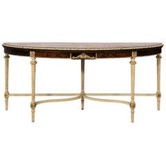 Louis XVI Style Demilune Table