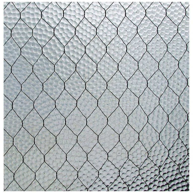 1920s 'Pebbled' Vintage Chicken Wire Glass For Sale