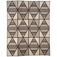 Shift Wool Rug in Brown, Grey and Cream, Custom Made in the USA