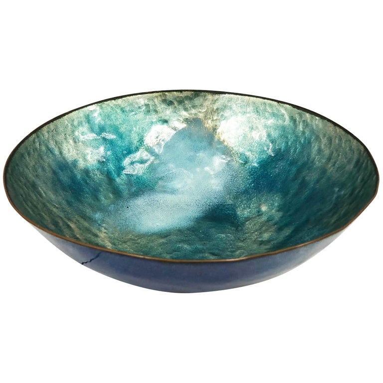 Enameled Bowl by Paolo De Poli, Italy, 1960s For Sale