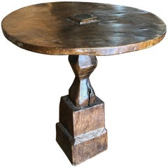 Primitive Indonesian Side Table with Round Top