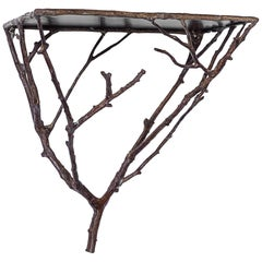 Brass Twig Wall Bracket, Bronze Finish, Made in Germany