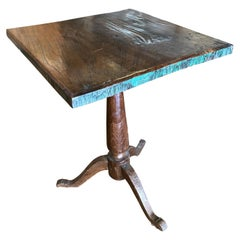 Primitive Square Side Table with Tripod Base