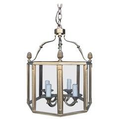 20th Century Gilt Bronze Louis XVI Style Octagonal Four-Light Lantern