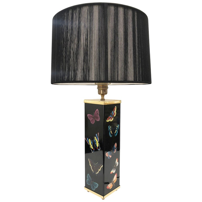 Piero Fornasetti Table Lamp, Italy, 1950s For Sale