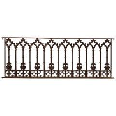 19th Century Cast Iron Gothic Fence Panels