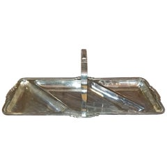 Art Deco Silver Plated Bon Bon Dish