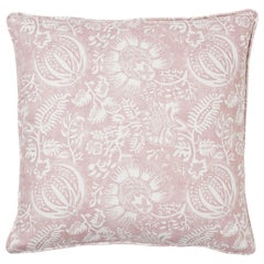 Schumacher Pomegranate Print Petal Two-Sided Linen Pillow