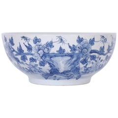 Large Blue and White Chinese Porcelain Bowl