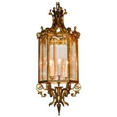 19th Century French Louis XVI Bronze Lantern