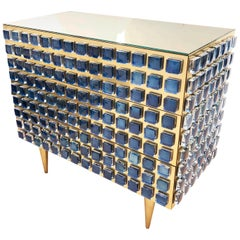 Glass and Brass Chest or Cabinet by Interno 43 for Gaspare Asaro