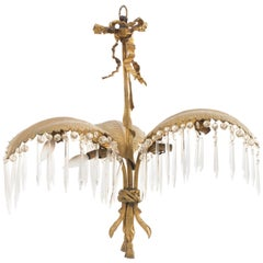 French Victorian Style Palm Design Chandelier