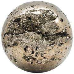 Extra Large Pyrite Sphere Specimen with Glossy Reflective Surface from Peru