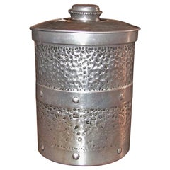 Art Deco British Pewter Tea Caddy or Cookie Jar
