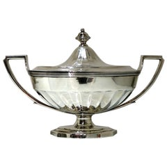 18th Century Antique George III Sterling Silver Sauce Tureen Lon1795 J Schofield