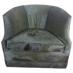 Calf Hair Club Chair